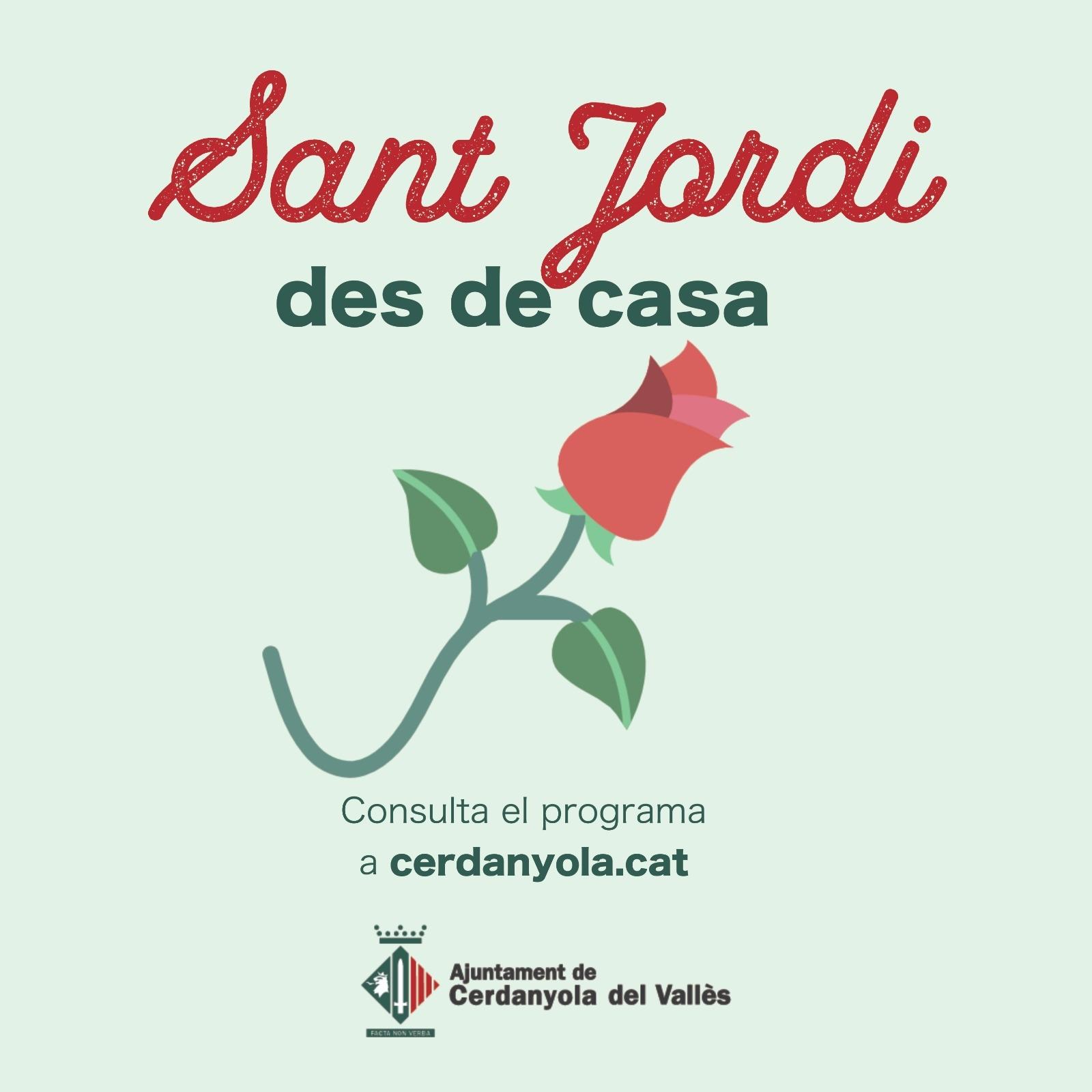 Imatge Sant Jordi des de casa