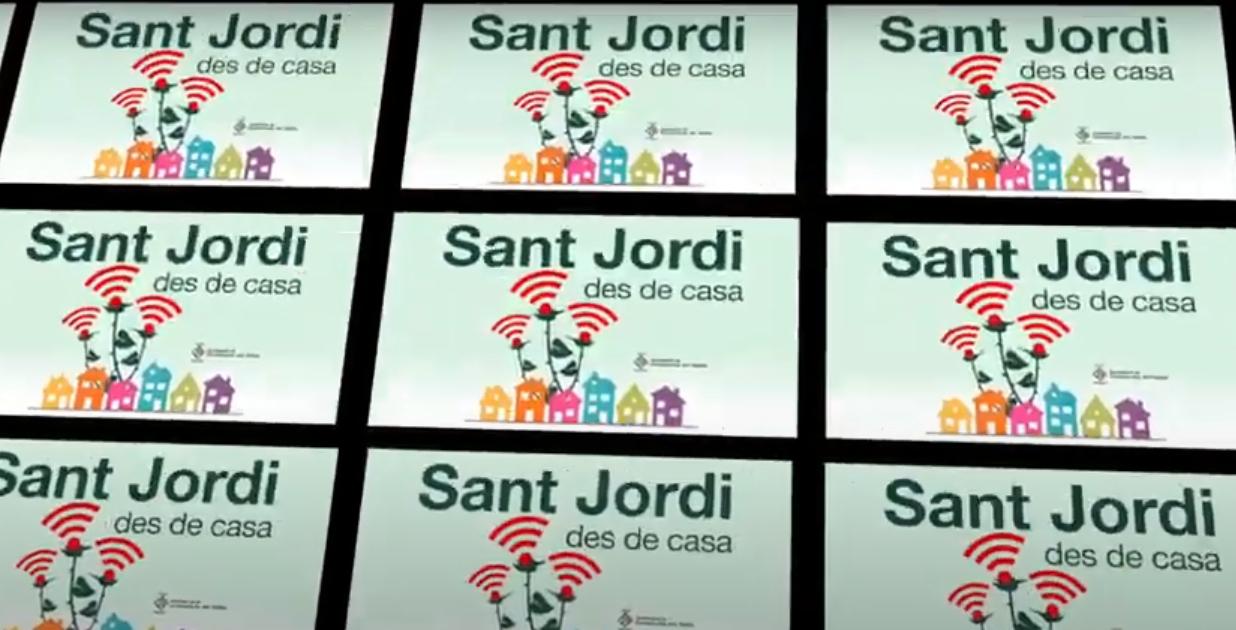 Captura de vídeo de Sant Jordi 2020
