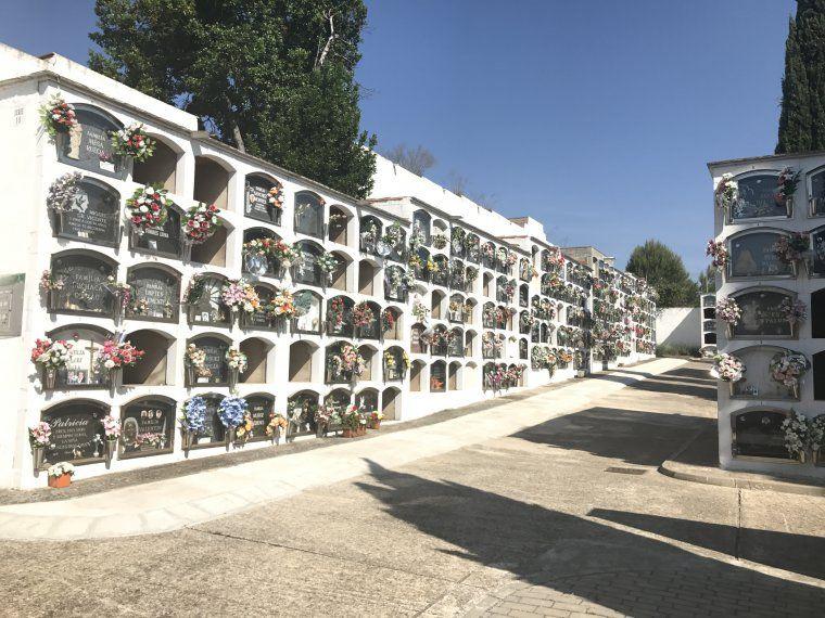 Fotografia de l'interior del cementiri municipal