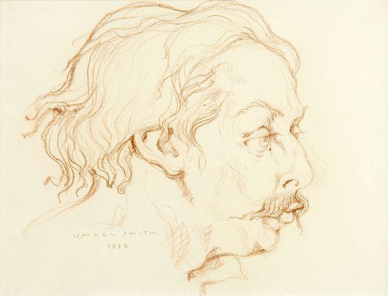 Dibuix a llapis del retrat d'Enric Granados seleccionat per a l'exposició virtual de la XMAC