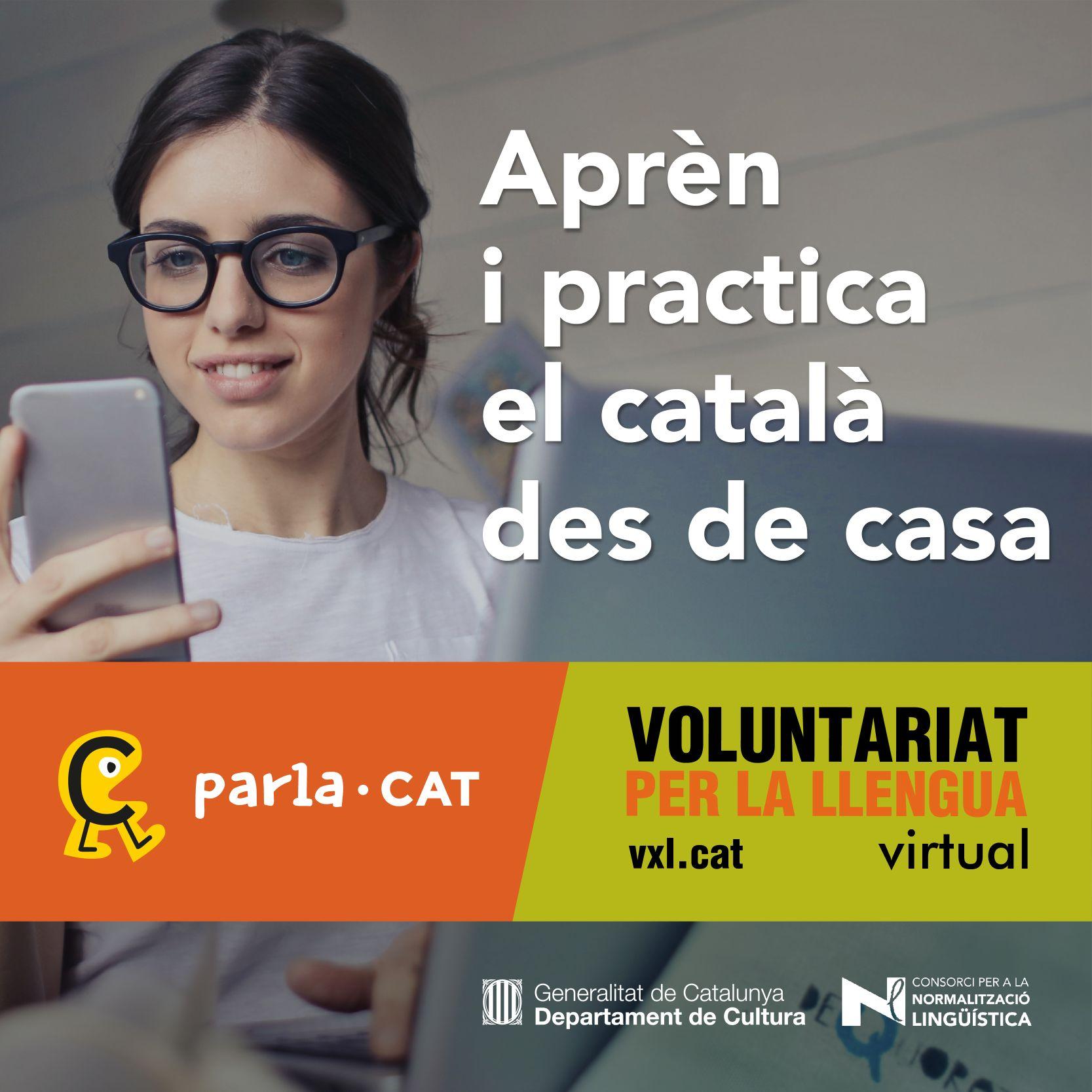 Cartell del voluntariat per la llengua