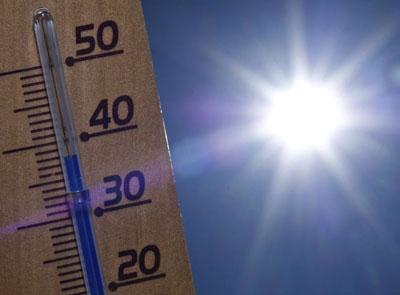 Imatge termòmetre amb calor