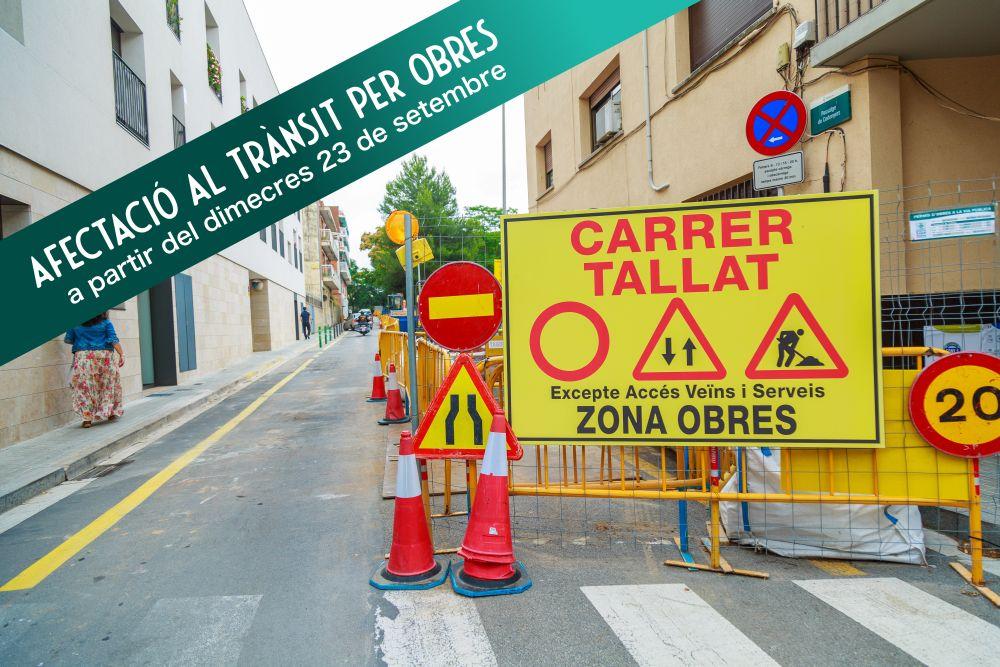 Les obres afactaran el passatge de Codonyers i el carrer Sant Ramon