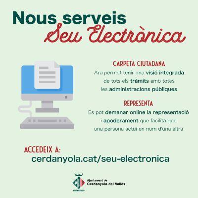Nous serveis a la Seu Electrònica de l'Ajuntament