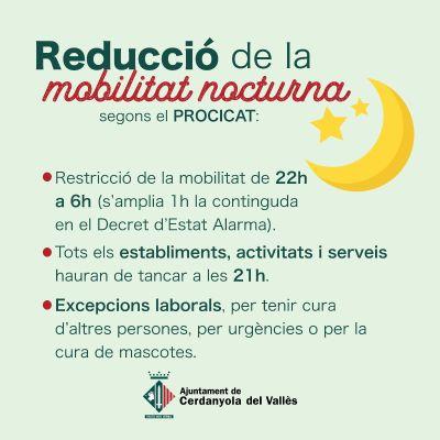 Reducció mobilitat nocturna