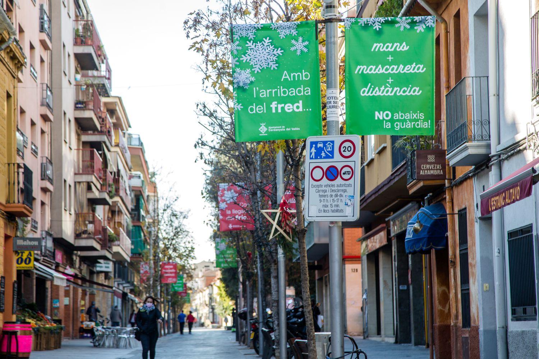 Banderoles al carrer Sant Ramon