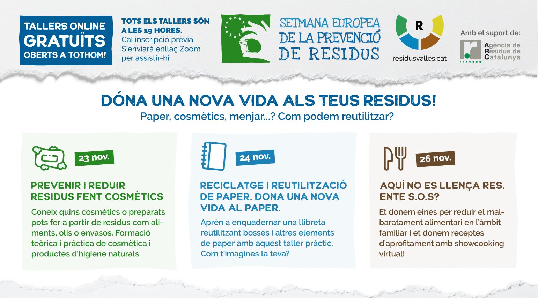 Imatge dels tallers del Consorci Residus Vallès de la EWWR
