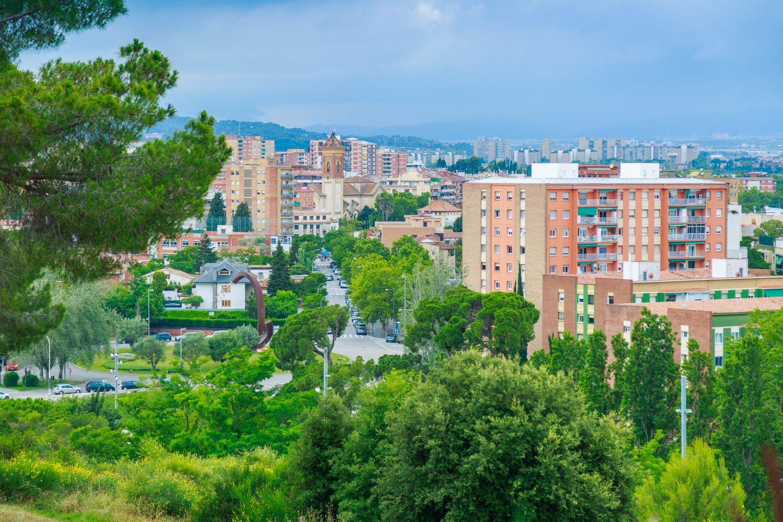 Vista de Cerdanyola des del parc del Turonet