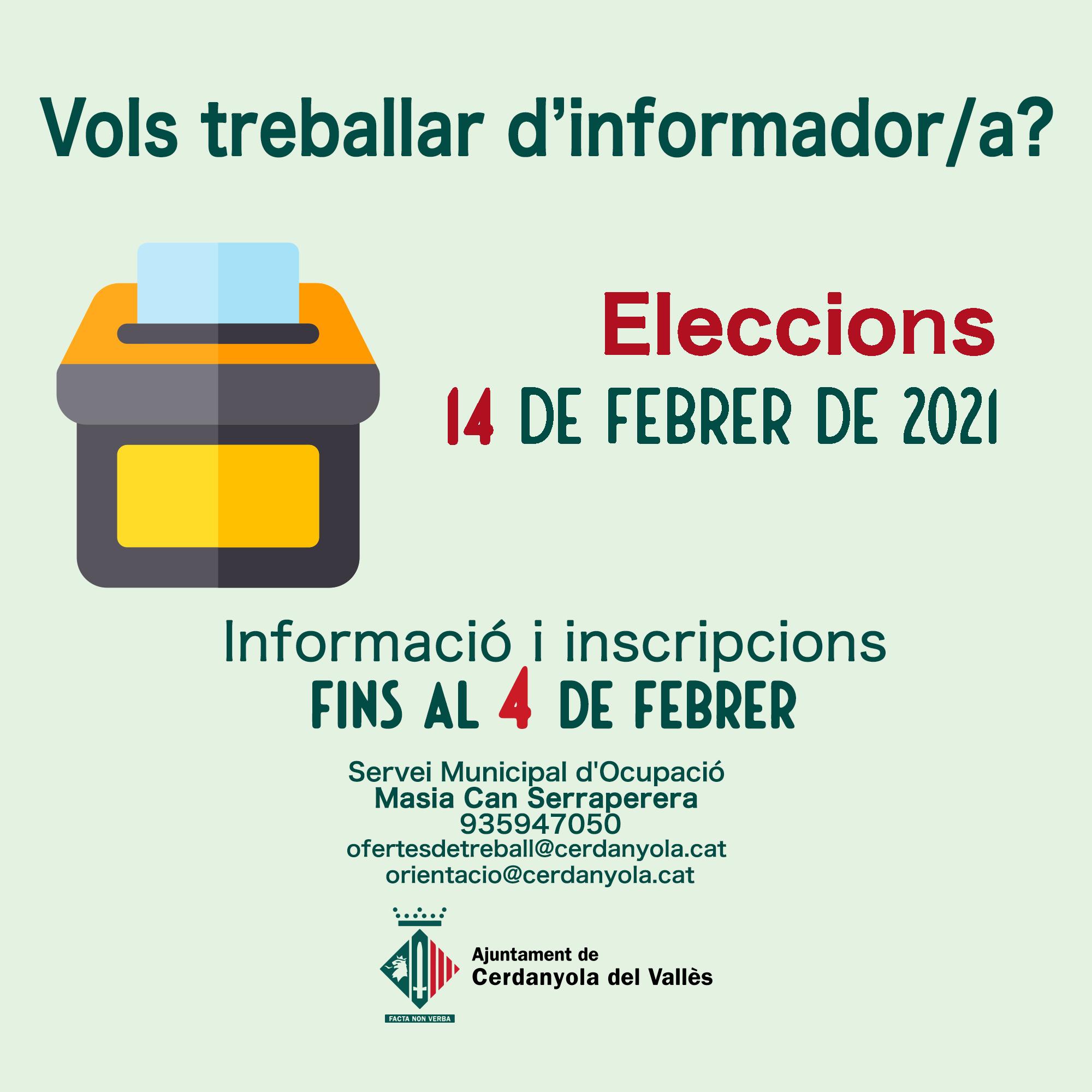 imatge treball informadors eleccions
