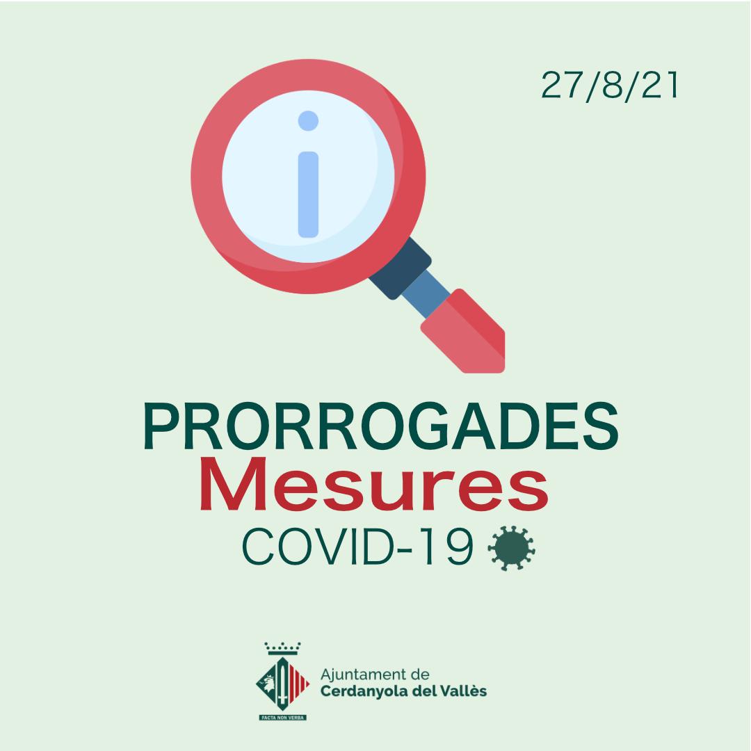 Prorrogades les mesures vigents contra la COVID-19