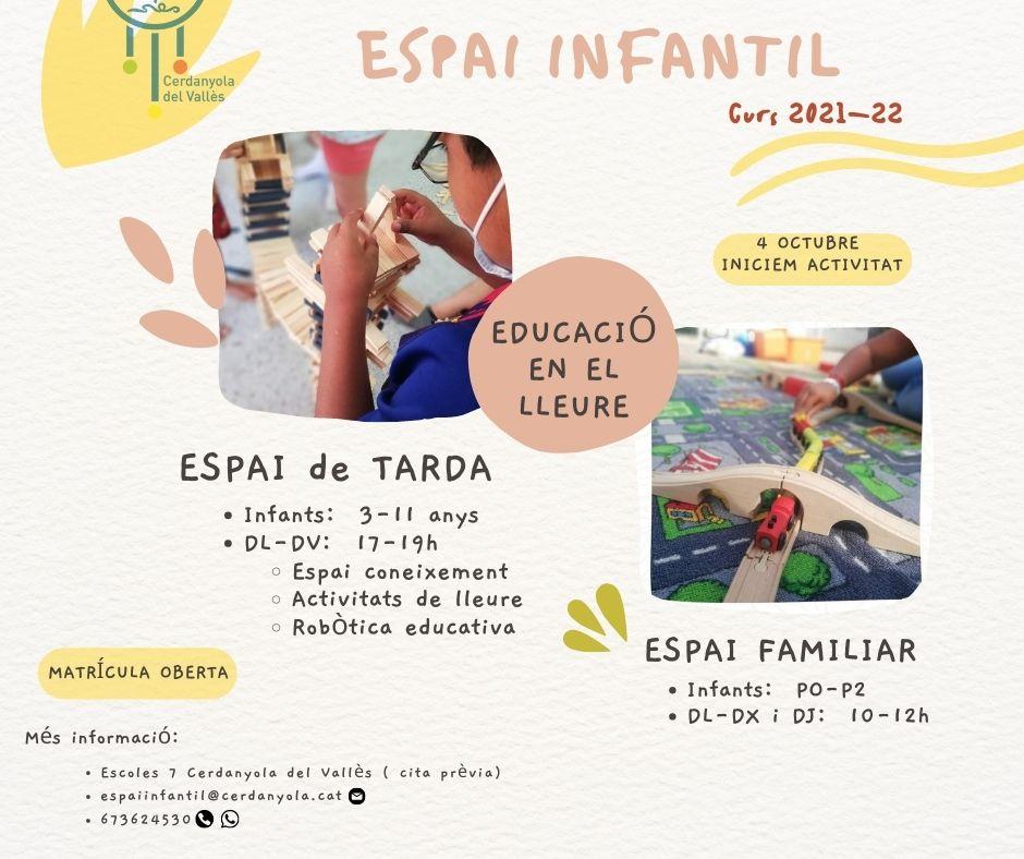 Imatge Espai Infantil curs 2021-22