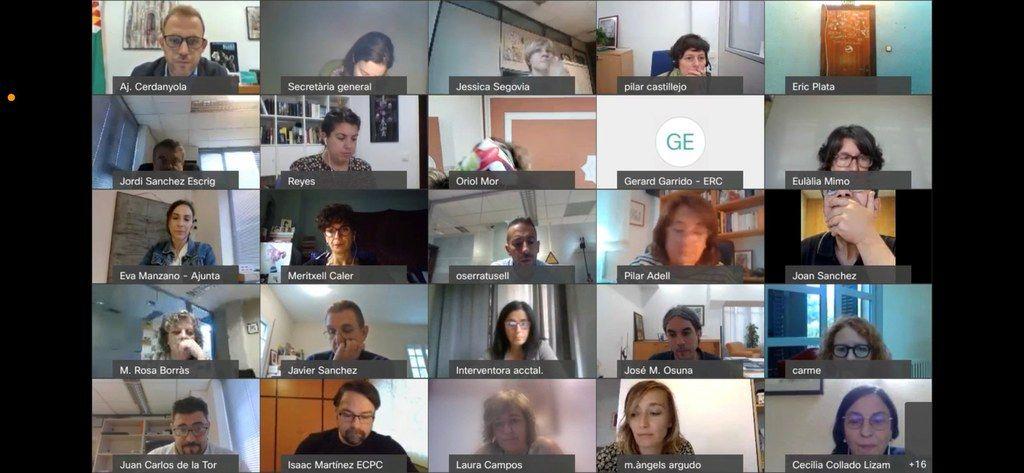 Captura pantalla assemblea de la Mancomunitat Intermunicipal Cerdanyola, Ripollet i Montcada
