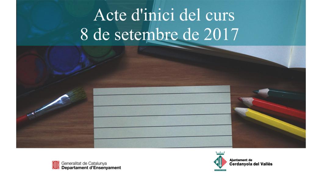 Acte d'inici del curs escolar 2017-2018