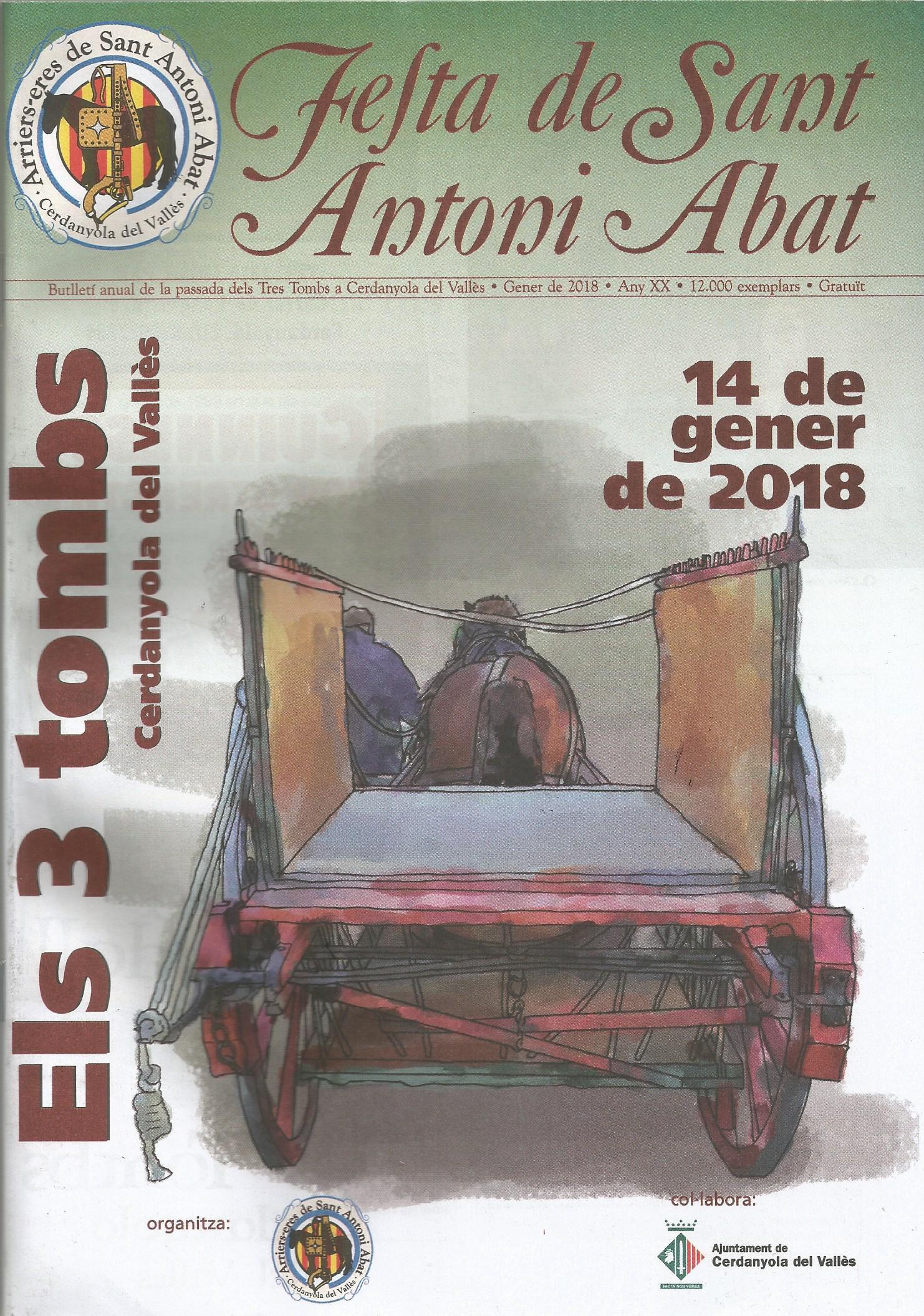 Portada de la revista de Sant Antoni 2018