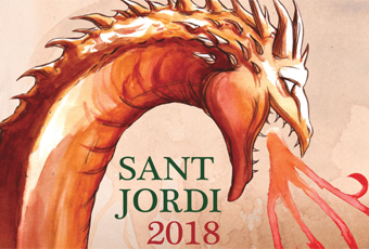 Detall del Cartell de Sant Jordi 2018
