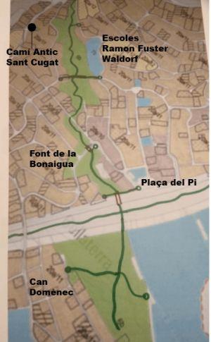 Plànol projecte Torrent de la Bonaigua