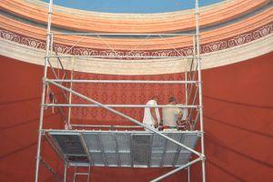 Imatge treballs de restauració Església Vella de Sant Martí