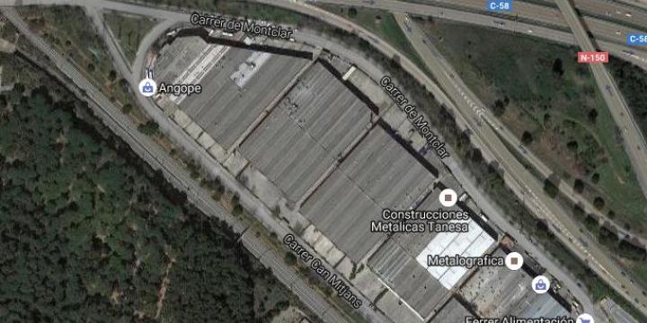 Vista aèria del polígon Polizur de Cerdanyola del Vallès