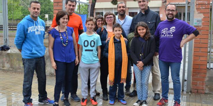 Foto de família de la presentació dels camins escolars