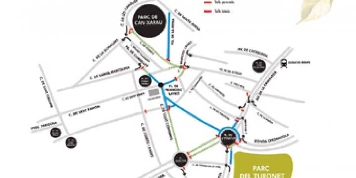 Plànol dels espais de la Festa Major