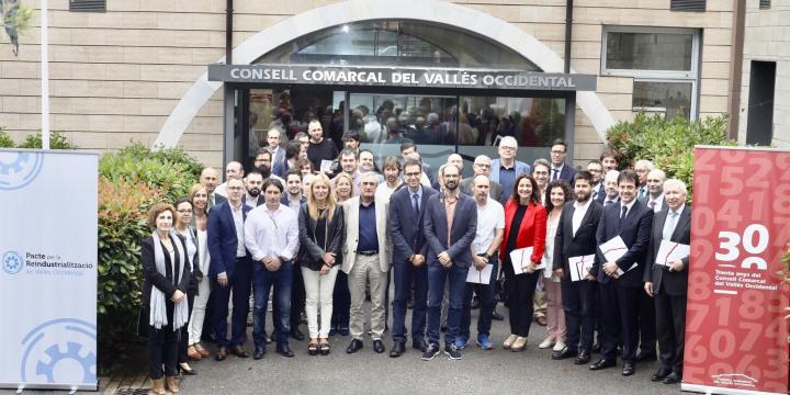 Signants del Pacte per la Reindustrialtizació del Vallès Occidental