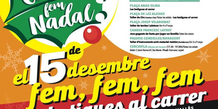 Imatge de la campanya Fem Comerç, Fem Nadal