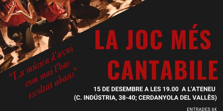 El concert tindrà lloc el dissabte 15 de desembre