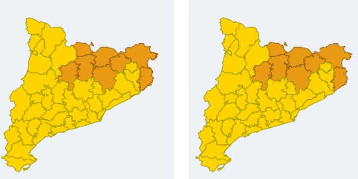 mapa de perill per a demà dijous
