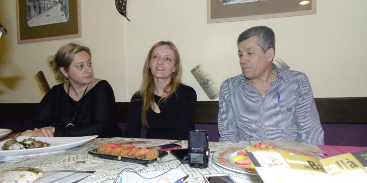 Mònica Álvarez, Contxi Haro i Antonio Castro