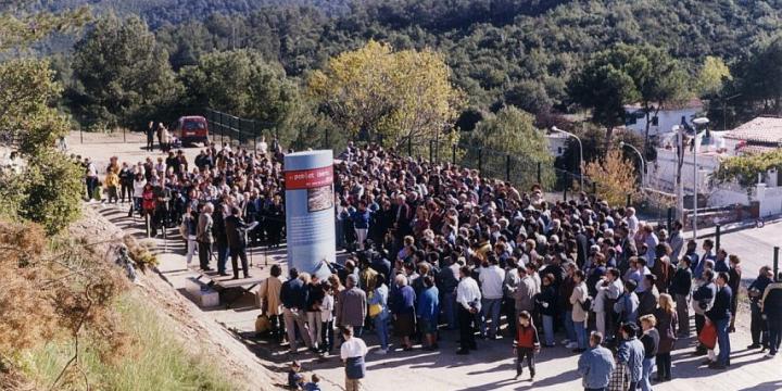Vista de l'acte inaugural del poblat ibèric de Ca n'Oliver