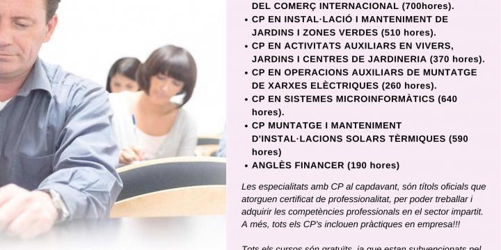 Cartell cursos FOAP 2019