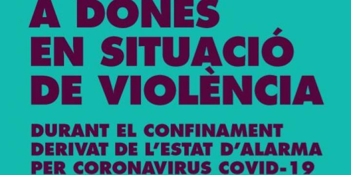 Portada de la guia per a dones en situació de violència durant el confinament