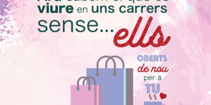 Imatge adaptada de la campanya en suport al comerç local