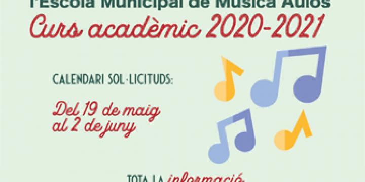 Imatge adaptada de la preinscripcio Escola Municipal Música Aulos