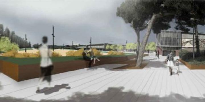 Reproducció de com quedarà la remodelació de la pl entre Camèlies i Santa Anna