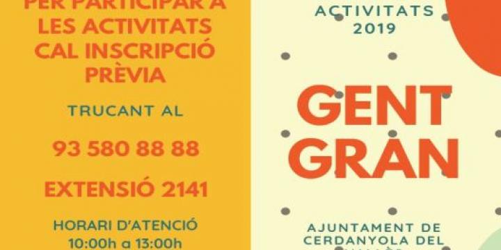 Programa activitats Gent Gran