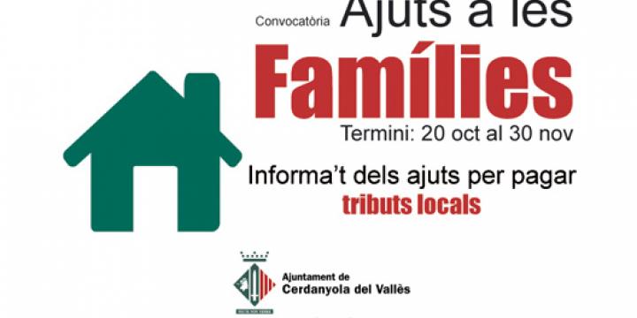 S'obre el termini per a demanar els ajuts per al pagament dels tributs locals