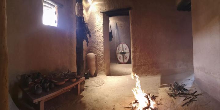 Foto interior cabana reconstruïda