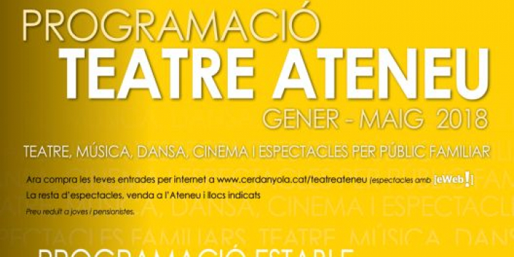 Programació teatre Ateneu gener-maig 2018