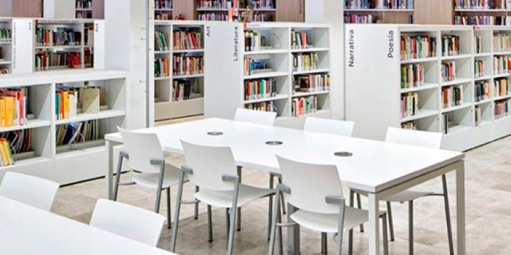 Sala de lectura de la Biblioteca Central