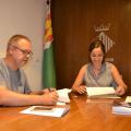 Laura Benseny i Octavi Moreno han signat el conveni de col·laboració