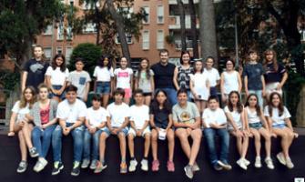 Els membres del Consell d'Infants i Adolescents en l'acte de cloenda