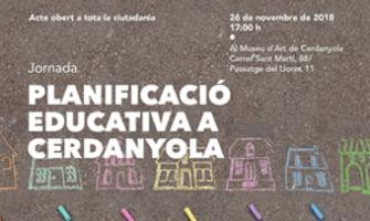 Cartell Jornada Planificació Educativa a Cerdanyola