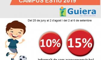 Part del cartell del Campus d'Estiu del PEM Guiera