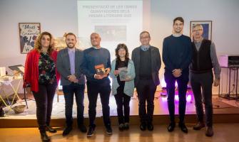 Els guanyadors amb les autoritats. Foto Núria Puentes / Ajuntament de Cerdanyola del Vallès