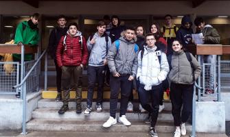 Grup d'alumnes que han viatjat a Salbris (França)