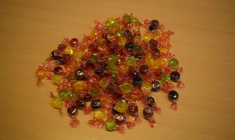 Grapat de caramels sense gluten, com els que es llençaran durant la Cavalcada