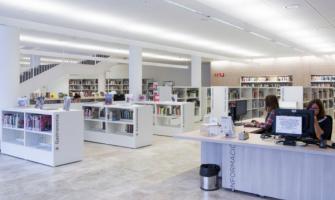 Fotografia de l'interior de la biblioteca