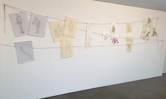 Fotografia de la mostra de dibuixos