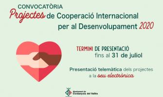 Imatge convocatòria presentació Projectes de Cooperació Internacional per al Desenvolupament